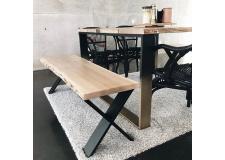 Pied croix 40 cm - INDUSTRIEL - <p>Il est parfait pour un banc, meuble TV. Vous pouvez l'utiliser pour créer tout autre meuble !</p> <p>Il peut s'adapter sur un plateau ancien ou sur un plateau neuf.</p> <p>Ce pied est réalisé à partir d'un profil rectangle de 2 cm par 10 cm. Il est très résistant.</p> <p>La largeur du pied est de38 cm.La fixation du pied se fait à l'aide de6 vis non fournies.</p> <p>2pieds de 40 cm peuvent supporter jusqu'à 250kg.</p> <p>Ils sont fabriqués de façon artisanale.</p> <p>60€ l'unité</p>