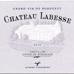 CHATEAU LABESSE 2016 - AOC CASTILLON COTES DE BORDEAUX