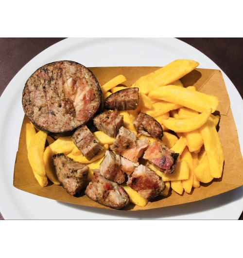 Gridouille Frites - Andouille-au-lard accompagnée de frites