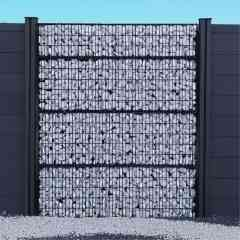 Clôture gabion - Nouveau concept de clôture innovante et personnalisable avec ses modules de 30 ou 50 cm de haut. L'association idéale de la clôture rigide et du gabion. Clôture à remplir selon vos souhaits : galets, roche, pierre, bois, plantes, etc... Garantie 5 ans. 2 coloris au choix : noir ou galvanisé.