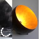 Lampe à poser or et noir en papier recyclé