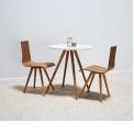 Petite table à manger scandinave - SIENNE - <p>Elégante et chaleureuse, la table SIENNE apporte une touche de design à votre intérieur tout en prenant un minimum de place !</p> <p>Coloris : Frêne, Noyer, Blanc, Noir</p> <p>Dimensions : D 70 x H 79 cm</p> <p></p> <p>Livraison Gratuite en France continentale ou retrait en 48h dans l'un de nos showrooms !</p>