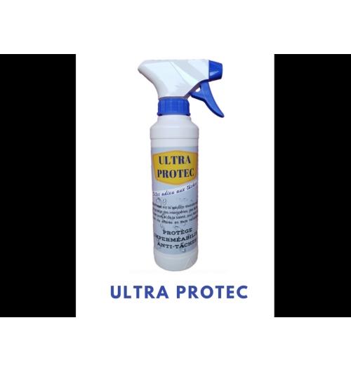 Ultra Protec - <p><strong>ULTRA PROTEC</strong>&nbsp;est un produit hydrophobe et ole¿ophobe qui offre une&nbsp;<strong>imperme¿abilisation&nbsp;</strong>permanente. Il cre¿e¿ une protection invisible sur les fibres qui repousse l'eau et les salissures tout en conservant leur couleur d&rsquo;origine et leurs proprie¿te¿s respirantes. Les ta¿ches ne peuvent donc plus se fixer sur les tissus traite¿s. L'eau, le cafe¿, le vin, les sauces et toutes les matie¿res grasses perlent au contact de la surface traite¿e.</p> <p>&nbsp;</p> <p><strong>ULTRA PROTEC</strong>&nbsp;est la solution durable et efficace contre les t&acirc;ches !</p> <p>&nbsp;</p> <p><strong>Pour tous les supports :</strong><br /><strong>Inte¿rieur :&nbsp;</strong>chaussures, ve¿tements, sacs a¿ main, costumes, cravates, canape¿s, fauteuils, chaises, moquettes, tapis, nappes...<br /><strong>Exte¿rieur&nbsp;</strong>: combinaisons de ski,</p>