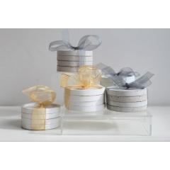 Sous-verres en béton - Set de quatre sous-verres en béton blanc ou béton gris