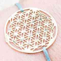 Bracelet Fleur de vie - Plaqué or 3 microns