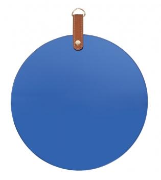 Miroir circulaire bleu
