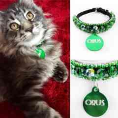 KFarah Kitty || Orus - Collier Chat 100% fabrication main en perles de verre.