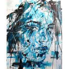 le bleu de tes yeux - art contemporain