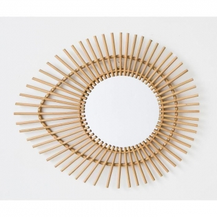 Miroir en rotin - <p>Dimensions : 65x55 cm</p>