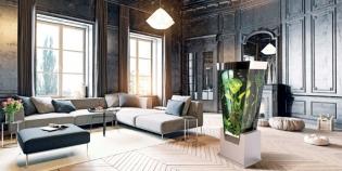 Colonne aquarium - <p>Aquarium avec une forme originale et contemporaine qui attirera tous les regards dans une pièce</p>