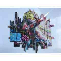 StreetSpider - Acrylique sur palette