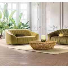 Canapé APPLE - Un design tout en rondeurs et une assise accueillante en mousse bi-densité.