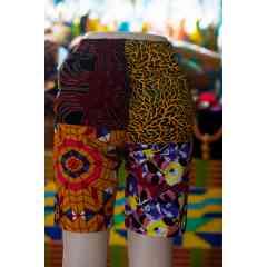 Short et pantalon unisexe à patch imprimé traditionnel