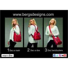 bergs3in1- FLEXY - Bergs Designs introduisent le berg3in1flexy,  le nouveau sac ingénieux des créateurs du bergs3in1 (sac à roulettes).  Flexible, il s'adapte à votre mode de vie. Ces innovants créateurs  vous offrent ici un excellent sac qui se convertit à votre guise en sac à dos,  sac cabas ou sac bandoulière grâce à ses lanières ajustables.  Il est disponible en 2 tailles et plusieurs couleurs, selon vos préférences et humeurs.  Il est à la fois léger et imperméable, et - comme tous les produits de Bergs Design -  il est conçu pour durer. Visitez notre stand et soyez éblouis par le sac le plus flexible de cette saison.