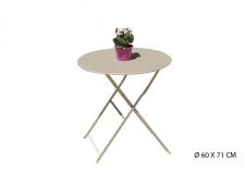 Table de jardin en metal blanc - Foire de Paris
