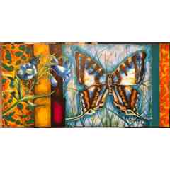 Les peintures de papillons - 100x50 cm en acrylique