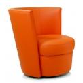 Modèle DISCO - <p>Elégant et de faible encombrement, ce fauteuil s'intègre partout, il trouvera sa place aussi bien dans les différentes pièces de la maison (salon, chambres, entrée,...) qu'en collectivité (hôtels, restaurants, salon de coiffure,...)</p> <p>Fonctionnel de part son socle pivotant, il sera un atout pour votre ameublement.</p> <p></p>