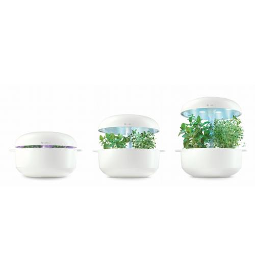 SmartGrow - Un potager d'intérieur intelligent. Prix Foire : 119,99€ + 3 packs de capsules offerts au lieu de 149,99€.