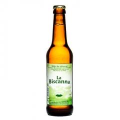 La Biscanna (bière) - La Biscanna est une bière artisanale et certifiée issue de l'agriculture biologique.  Un mixe dans le brassage du houblon qui fut accompagner par des feuilles de chanvre le tout vous apportant un goût étonnement fruitée pour une bière blonde !