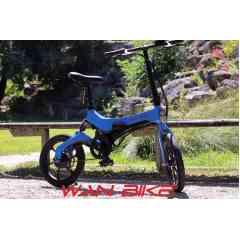 EMY S26 Bleu Métalissé - Vélo Électrique Urbain Pliant Haut de Gamme