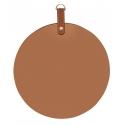 Miroir circulaire marron