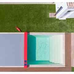 Couvertures de piscine - Un design inédit et minimaliste pour habiller le bassin en toute élégance. Une toile parfaitement tendue qui réinvente les lignes de la couverture de piscine.