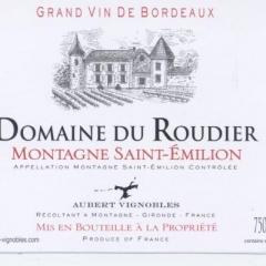 DOMAINE DU ROUDIER - AOC Montagne Saint Emilion