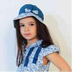 Casquette fillette - Casquette d'été pour fille en tissu liberty