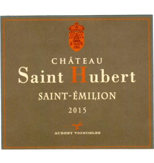 CHATEAU SAINT-HUBERT 2015 - AOC SAINT EMILION