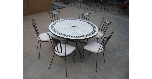 TABLE MOSAIQUE - AMEUBLEMENT - LITERIE - LUMINAIRE - CHATILLON D\'AZERGUES -  FRANCE