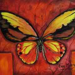 Les peintures de papillons - 46x38 cm en acrylique