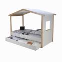 Lit Cabane - <p>Lit cabane contemporain en bois tilleul massif blanc mat</p> <p>Dimensions : l 90 x L 190 cm</p> <p></p>