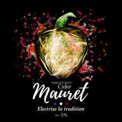 Mauret - Le Cidre Mauret est 100% naturel, sans sucre ajouté et issu de l'agriculture raisonné. Il est un astucieux mélange entre cinq pommes à cidre et une poire, à 5° d'alcool. Il se consomme aussi bien à la pression qu'en bouteille! L'alternative parfaite à la bière!