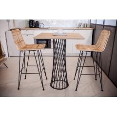 Pied torsadé 90 cm - CENTRAUX - <p>Un nouveau dans la collection des pieds circulaires&nbsp;: le TORSADE.</p> <p>Ce pied est adapt&eacute; pour des tables rondes d&rsquo;un diam&egrave;tre jusqu&rsquo;&agrave; 0,70m ou des tables carr&eacute;es d&rsquo;un c&ocirc;t&eacute; maximum de 70cm.</p> <p>Son design atypique agit comme un trompe-l&rsquo;&oelig;il. Muni d&rsquo;un plateau, ce pied habillera votre int&eacute;rieur et le rendra unique.</p> <p>Cette cr&eacute;ation convient parfaitement pour une utilisation int&eacute;rieure et ext&eacute;rieure.</p> <p>Le pied pour table haute convient &agrave; diff&eacute;rents types de plateau&nbsp;: bois, b&eacute;ton</p> <p>La platine au sol mesure 35 cm, et la platine o&ugrave; viendra se poser le plateau fait 29 cm. Ce pied est fabriqu&eacute; avec du rond &eacute;tir&eacute; de 10cm et peut accueillir un plateau pesant jusqu&rsquo;&agrave; 100Kg maximum.</p> <p>150&euro; l'unit&eacute;</p>