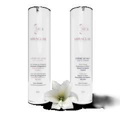 Duo Jour & Nuit - Pack de deux cosmétiques sans paraben pour le visage pour une routine complète qui répond aux besoins de tous types de peaux.   Il contient : une crème de jour hydratante et une crème de nuit nourrissante.