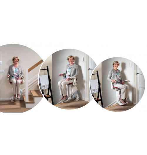 MODUL AIR - Après d'intenses recherches et de tests poussés sur les matériaux, Otolift a développé un rail d'exception : le rail le plus fin au monde est disponible exclusivement sur l'Otolift Air. Avec son design moderne et sa technologie exceptionnelle, l'Otolift Air s'est tout naturellement imposé comme le monte-escalier favori de nos clients. Idéal pour conserver votre rampe et laisser le côté le plus large accessible pour les autres membres de la famille. Escaliers raides, étroits ou en colimaçon, l'Otolift Air s'adapte facilement aux escaliers les plus compliqués et suit discrètement toutes les courbes.