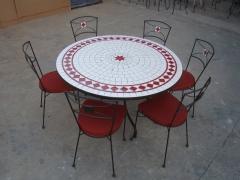 TABLE MOSAIQUE - JARDIN - PISCINE - SPAS - VERANDA