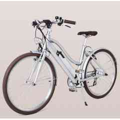 LIBBY MILLER – GRIS MÉTÉORE - Vélo à assistance électrique 26 pouces avec enjambement bas et un design néo-rétro.