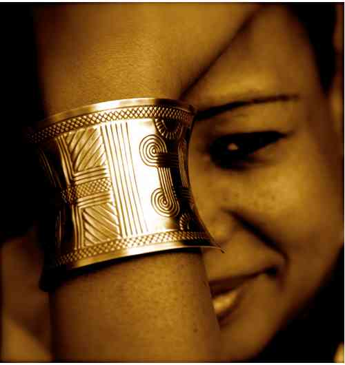 bracelet manchette en bronze - bracelet