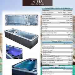 spa de nage NISIA - spa de nage bi zone 585 cm x 220 cm x H 130 cm