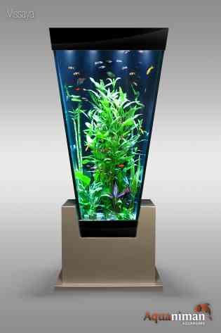COLONNE AQUARIUM EN V - <p><strong>Si vous recherchez un aquarium design original, alors la colonne aquarium Vissaya est pour vous!</strong></p> <p>Aquaniman revisite le concept de l'aquarium colonne avec le modèle Vissaya. Sa forme atypique avec ses côtés inclinés offre une nouvelle vision des poissons et du décor aquatique et joue résolument la carte du design et de l'originalité.</p> <p></p> <p><strong>Un aquarium original au design unique</strong></p> <p>Vissaya a été pensé pour proposer une vision différente et inattendue de l'aquarium : sa conception unique en forme de V lui confère un design innovant tout en préservant l'élégance des colonnes aquariums. De plus, la colonne vient s'emboîter dans son socle, créant un effet visuel surprenant. Ainsi, avec ses lignes épurées, son design travaillé et ses matériaux nobles, Vissaya ne manquera pas d'attirer tous les regards!</p> <p><strong></strong></p>