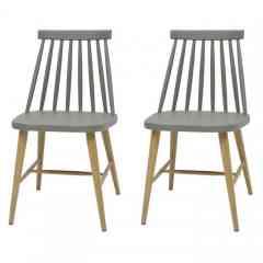 2 chaises de salle à manger - <p>Style scandinave - Dimensions de la chaise : L 43 x P 37 x H 77 cm</p>