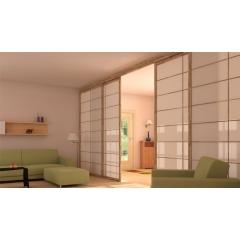 Portes coulissantes - Portes coulissantes en hêtre massif lamellé pour fermer un placard ou séparer une pièce