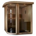 Sauna ESPACE VISION - <p>Comme son nom l'indique, l'Espace Vision procure une sensation d'espace. Il se distingue par ses surfaces vitrées, sa bulle arrondie et la richesse des essences de bois utilisées.</p>