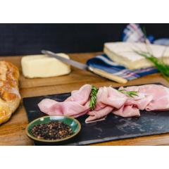 Sandwich Parisien Mixte - Baguette tradition, Jambon artisanal Prince de Paris, Brie de Meaux fermier AOP, Beurre fermier demi-sel, Ciboulette fraiche