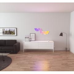 Nanoleaf Panneaux Lumineux - Rhythm Editon - <p>&Eacute;clairages connect&eacute;s et design sous forme de panneaux muraux, les Nanoleaf Light Panels permettent de r&eacute;aliser des ambiances lumineuses sur-mesure, selon les envies des utilisateurs : lever de soleil le matin ou aurore bor&eacute;ale le soir, les panneaux s&rsquo;assemblent au gr&eacute; de vos humeurs, sans aucune limite ! <br /> <br />V&eacute;ritable puzzle de lumi&egrave;re, les Nanoleaf Light Panels s&rsquo;imbriquent les uns aux autres, sans clous ni vis, gr&acirc;ce &agrave; des bandes adh&eacute;sives double-face. Couleurs, luminosit&eacute; et mouvements de lumi&egrave;res, tout est r&eacute;glable directement sur l&rsquo;unit&eacute; de commande des panneaux ou via l&rsquo;application Nanoleaf (disponible sous IOS et Google Play). Cette derni&egrave;re permet de contr&ocirc;ler totalement les panneaux pour cr&eacute;er ses propres animations ou utiliser celles d&eacute;j&agrave; pr&eacute;&eacute;tablies par Nanoleaf. Compatibles avec Apple HomeKit, Google Assistant, Amazon Alexa ou encore IFTTT, les panneaux lumineux Nanoleaf sont pilotables vocalement gr&acirc;ce &agrave; leur int&eacute;gration aux syst&egrave;mes de maison connect&eacute;e.</p>