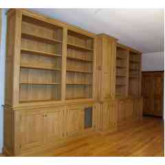 Bibliothèque en chêne massif - Agencement de bibliothèque sur mesure