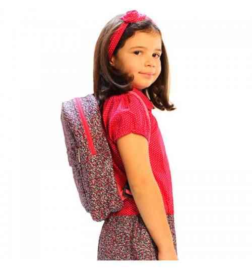 Sac à dos enfant - Sac à dos pour fille en tissu liberty. Sac à dos original et léger pour préserver la colonne vertébrale de nos enfants.