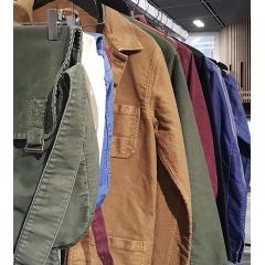 Veste vintage Made in Normandie - Veste en moleskine inspirée des anciens vêtements de travail Fabriquée en Normandie - Made in France