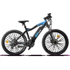 Vélo Electrique VTT SRACE - Puissance, performance et confort pour le dernier né de la gamme CRZ by VG-Bikes. Cadre léger et très résistant avec d'excellentes propriétés de conduite. L'aluminium est un matérieu écologique avec une très grande durabilité. Il y a peu de risque de casse et surtout aucune chance de rouille. Cette fourche Suntour XCT suspendue est un incontournable pour la pratique sportive. Elle permet une tenue de route et une absorption des chocs efficace et performante. La batterie aux cellules Panasonic 36V 13Ah vous offrira une grande autonomie. De plus, intégrée au tube diagonal du cadre, elle améliore la stabilité de votre vélo. Son écran LCD déporté vous permet de vérifier en un coup d'oeil votre vitesse, l'autonomie de votre batterie, les kilomètres parcourus. De plus il dispose de 3 modes d'assistance : Eco, Normal ou Power. Le moteur allemand DK situé dans le moyeu arrière 36V250W  vous apporte un panache et une vitesse max de 25 km/h pour des sensations inédites. Pour une utilisation tout chemin, les jantes double-parois de la marque Alex DH 27.5 sont en aluminium double parois avec rayons renforcés. Équipé de pneus Schwalbe Smart Sam 27.5, le rapport qualité/prix de ce nouveau né dans la gamme des VTT CRZ est incontestable. CRZ by VG-Bikes vous offre une garantie de 5 ans sur son cadre et de 2 ans sur les pièces détachées et partie électrique.